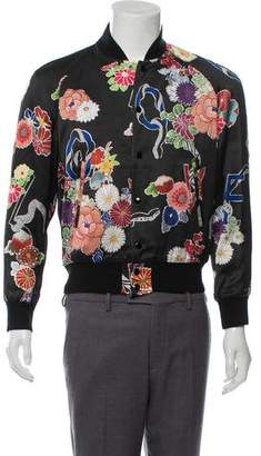 Saint Laurent 2016 Floral Bomber Jacket