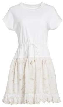See by Chloe Butterfly Sleeve Cutout Dress