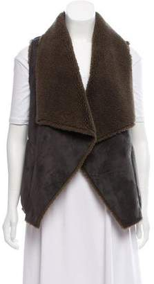 Velvet Faux Shirling Vest