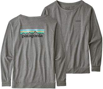 Patagonia Women's Long-Sleeved Pastel P-6 Logo Responsibili-Tee