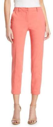 Emporio Armani Mid-Rise Crop Cotton-Stretch Pants