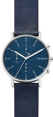Skagen Signature Leather Watch, 40mm