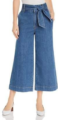 Joie Marylu High-Rise Culotte Jeans in Denim Sky