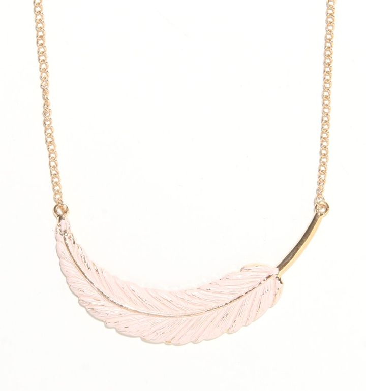 With Love From CA Painted Feather Necklace