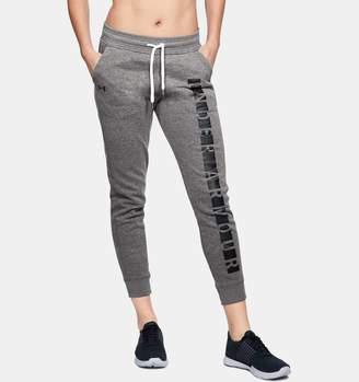 Under Armour Women's UA Favorite Fleece Graphic Pants