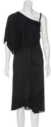 Malo Asymmetrical Midi Dress