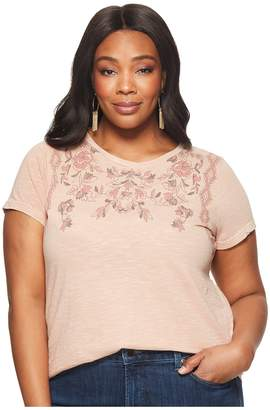 Lucky Brand Plus Size Floral Tee Women's T Shirt