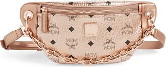MCM Mini Essential Visetos Coated Canvas Belt Bag