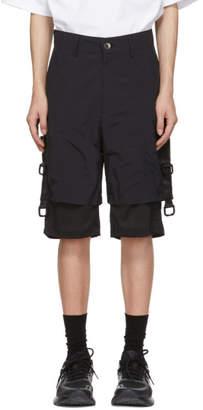 D.gnak By Kang.d Black Mesh D-Ring Shorts
