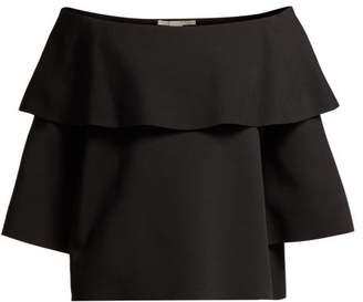 Stella McCartney Punto Milano Off The Shoulder Cady Top - Womens - Black