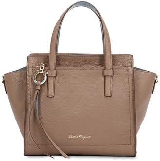 Salvatore Ferragamo Small Amy Leather Top Handle Bag