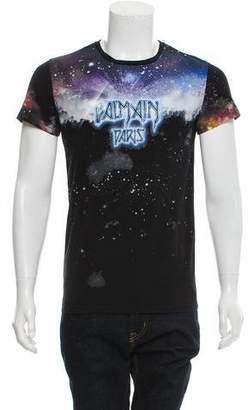 Balmain Space Graphic Print T-Shirt