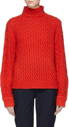 Victoria Beckham VICTORIA, Cable knit oversized turtleneck sweater