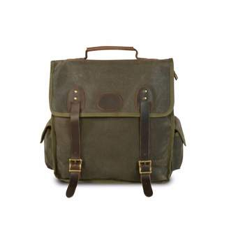 EAZO - Water Repellent Waxed Canvas Backpack in Army Green