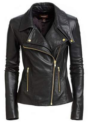 Kingdom Leather New Women Genuine Real Leather Jacket Ladies Slim Fit Biker Coat XW619 XL