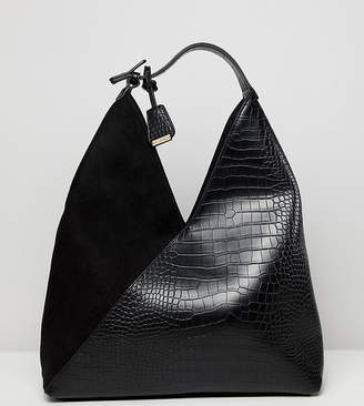 Glamorous two tone slouch tote bag