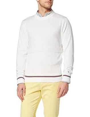 d6315faf975d84 Tommy Hilfiger Men s Structured Flag Sweater Sweatshirt