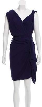 Lanvin Silk Ruffle Dress