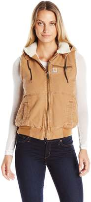Carhartt Women's Weathered Duck Wildwood Vest, Brown