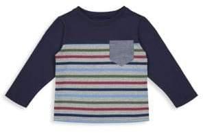 Andy & Evan Little Boy's & Boy's Colorblock Stripe Pocket Long-Sleeve Tee