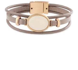 Saachi Taupe Genuine Leather Bracelet