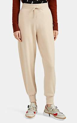 Chloé Women's Metallic-Logo-Pocket Cashmere Jogger Pants - Sand