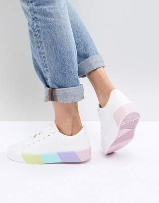 Aldo Sneaker with Contrast Color Block Sole