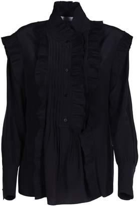 4584ca1229e7db Black Ruffle Blouse - ShopStyle