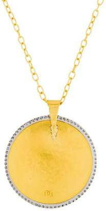 Gurhan Diamond Hourglass Pendant Necklace