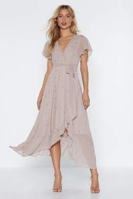 Nasty Gal Get the Party Star-ted Wrap Dress