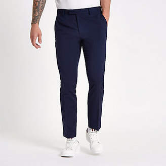 River Island Navy skinny suit pants