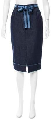 Timo Weiland Denim Belted Skirt