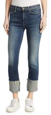 Mother Pony Boy Frayed Cuffed Ankle Jeans