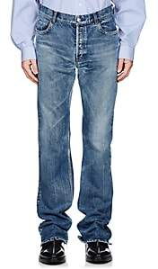 Balenciaga Men's Flared Mid-Rise Jeans-Lt. Blue