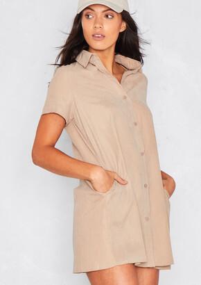 7de1e241e6 Missy Empire Missyempire Dolcie Mocha Button Up Shirt Dress