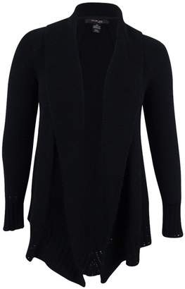 Style&Co. Style & Co. Womens Plus Knit Shawl Collar Cardigan Sweater Black