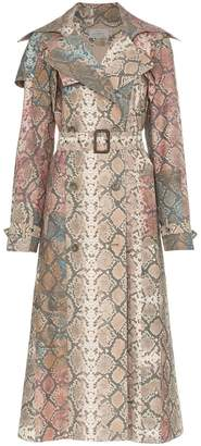 Preen by Thornton Bregazzi peggy snakeskin print trench coat