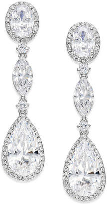 Macy's Danori Oval Crystal Drop Earrings, Created for