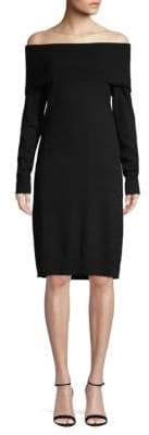 Saks Fifth Avenue Off-The-Shoulder Sweater Dress