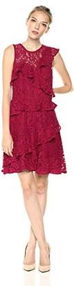 Adelyn Rae Women's Colleen Woven Lace Ruffle Dress
