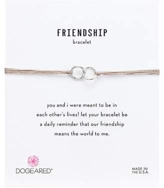 Dogeared Friendship Double Linked Rings Silk Bracelet Bracelet