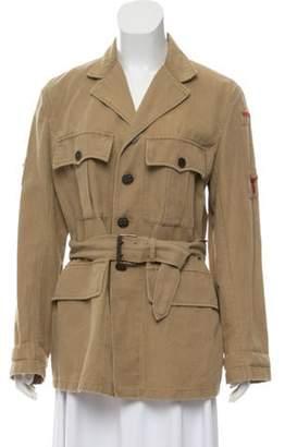 Ralph Lauren Button-Up Utility Jacket Beige Button-Up Utility Jacket