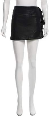 No.21 No. 21 Faux Leather Mini Skirt