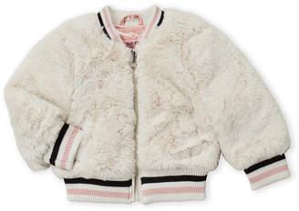 Urban Republic Toddler Girls) Faux Fur Bomber Jacket