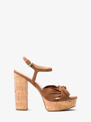 MICHAEL Michael Kors Pippa Suede Platform Sandal