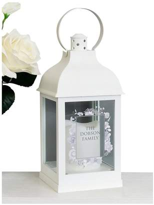 Very Personalised Soft Watercolour Patterned Lantern