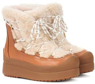 Tory Burch Courtney 60mm shearling ankle boots