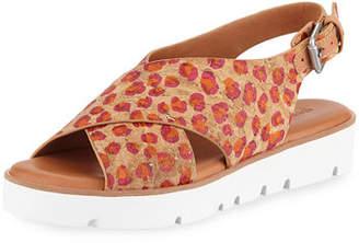 Gentle Souls Kiki Flower Cork Comfort Sandals
