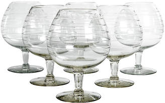 One Kings Lane Vintage Cut-Crystal Brandy Glasses - Set of 6 - La Maison Supreme