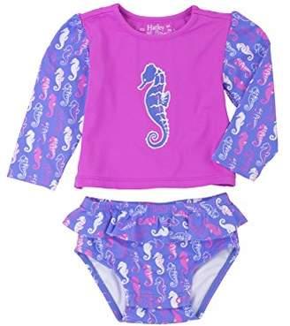 Hatley Baby Girls' Rash Guard Set Swim Shirt,18-24 Months